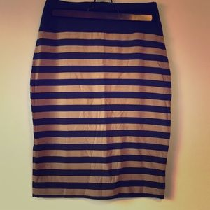 2/$15 Small/Med Striped bodycon WYse skirt